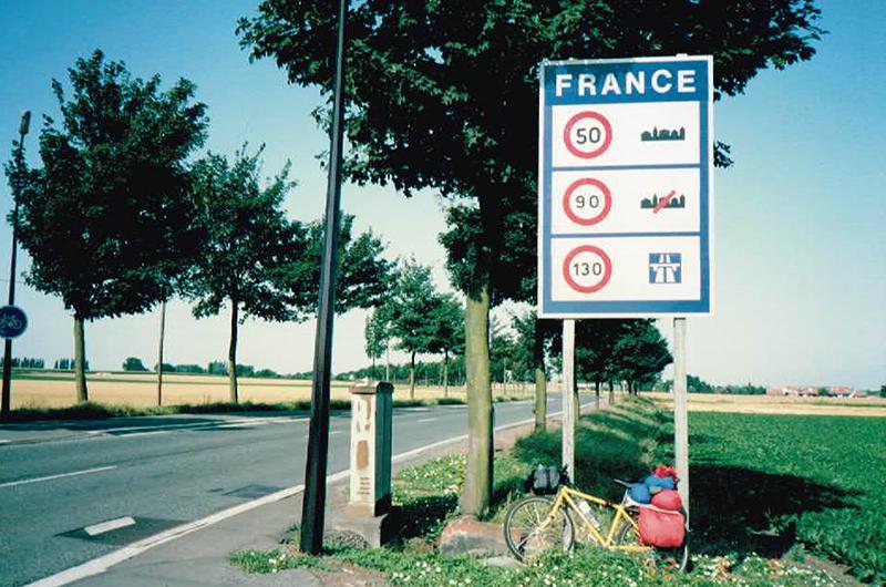 フランスへの自転車旅行