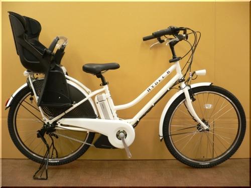 ブリヂストン/VERYコラボ/HYDEE.Bハイディビー/HY6L61/電動アシスト自転車/ハンサムチャイルドシート/ホワイト/a