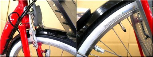BRIDGESTONEブリヂストン/2012H24年2月モデル/アンジェリーノアシスタ/A26L82/ 親子3人乗り自転車/幼児2人同乗可能/チャイルドケアバイク/d