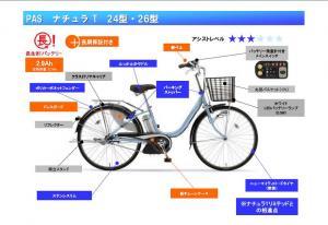 ヤマハPAS/11モデル発売/PZ26NT24NT/ナチュラTティ/お手頃価格/長生きバッテリー/a